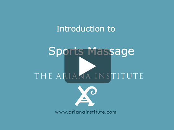 Ariana Institute's Introduction to Sports Massage